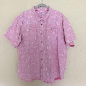Columbia Short Sleeve Shirt Southwest Design XXL
